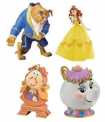 Bullyland Disney Beauty & The Beast Figures Cake Toppers Belle Potts Cogsworth