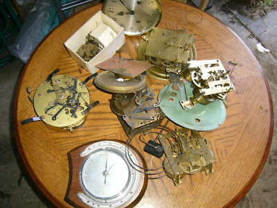 Load of Clock Parts - Smiths, Junghans Etc.