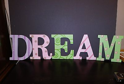 "8"" wooden Letters Spell Dream"