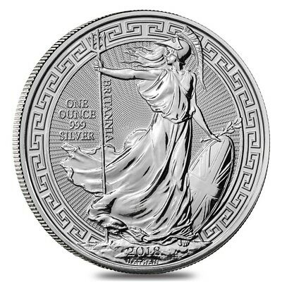 2018 Great Britain 1 oz Silver Britannia Oriental Border Coin .999 Fine BU
