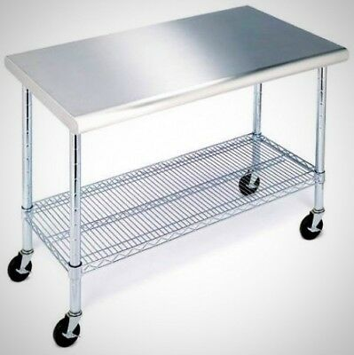 Members Mark Work Table With Stainless Steel Top - 49