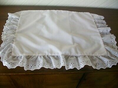 Broderie Anglaise Pram/Cot Pillowcase