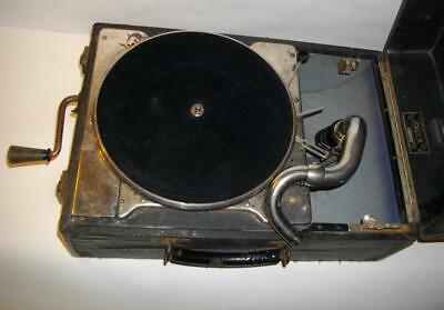Vintage Decca Salon 130 Gramophone Portable Wind Up Record Player 1930s ??