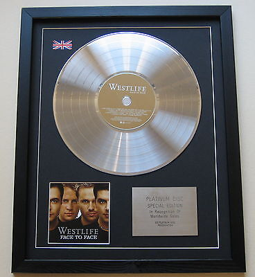 WESTLIFE Face To Face CD / PLATINUM LP DISC Presentation