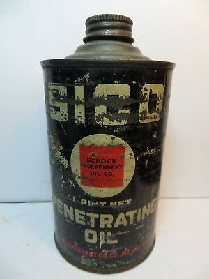 VINTAGE VERY RARE 1930-40's SICO PENETRATING TIN OIL CAN HANDY OILER  LEAD TOP