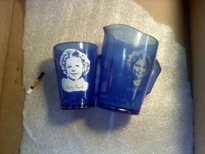vintage Shirley Temple pitchers