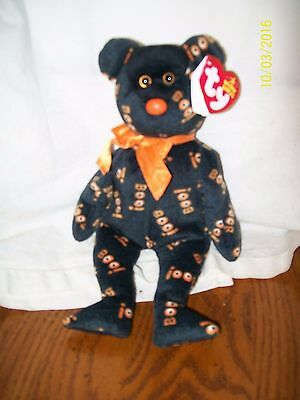Ty Beanie Baby Yikes Bear Halloween Boo Plush With Tag