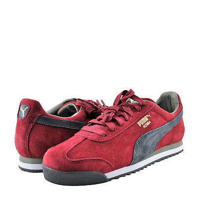 official photos 07860 7af1f Men's Shoes PUMA Roma Gents Suede Lace Up Sneaker 36354417 Red / White *New*