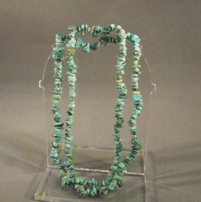 Antique American Indian Navajo Turquoise Necklace