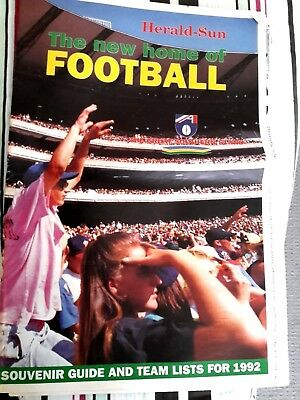 AFL Memorabilia herald sun  the new home of football paper 31 pages