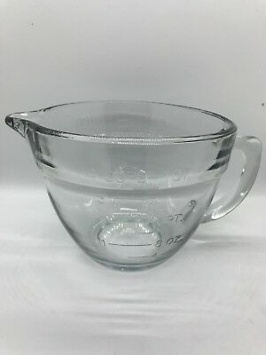 PAMPERED CHEF 1QT / 1 Litre / 4-Cup Glass Mixing Batter Bowl ...