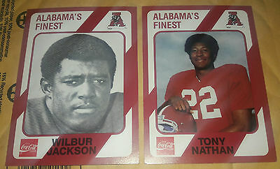 1989 Collegiate Collection Alabama's Finest Tony Nathan #189, Wilbur Jackson 119