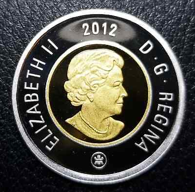 2012 $2 Canada Toonie Silver & Gold plated Proof - Uncirculated from Set