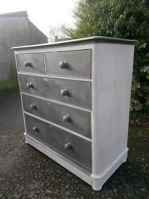 Large Victorian Painted Mahogany Chest of Drawers