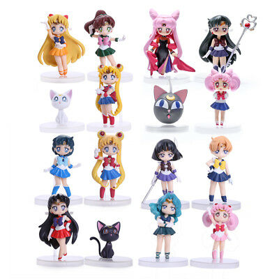 SAILOR MOON - Figuras Q version Sets 4 Piezas. Mercurio Marte Júpiter Venus