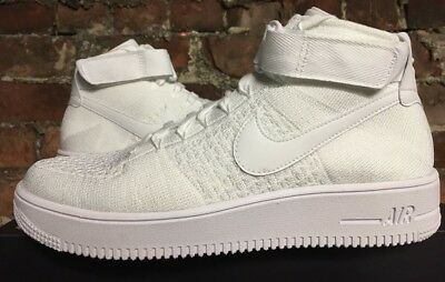 9691ff5222a5 Nike Air Force 1 Ultra Flyknit Mid Uk9 Eur44 Triple White 817420 102 Af1  Rare