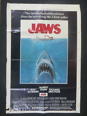 Jaws Original Vintage Movie Poster One Sheet 1975