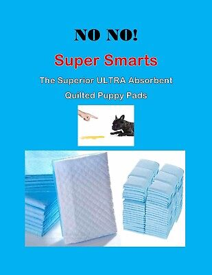 300 17x24 Super Absorbent NO NO Smart Puppy Pee Pads Quilted Scented  Last Hours