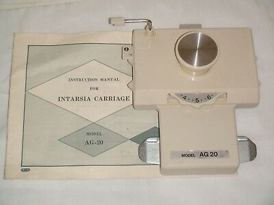 Knitting Machine Accessory: Singer Ag 20 Intarsia Carriage For Standard Machines