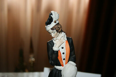 G. Armani Figurine Statue Figurine Figure 'Lady with Muff' #408-S Excellent cond