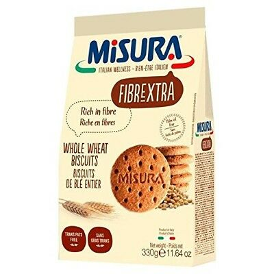 Misura Fibrextra Whole Wheat Biscuits - 330g (0.73lbs). Huge Saving