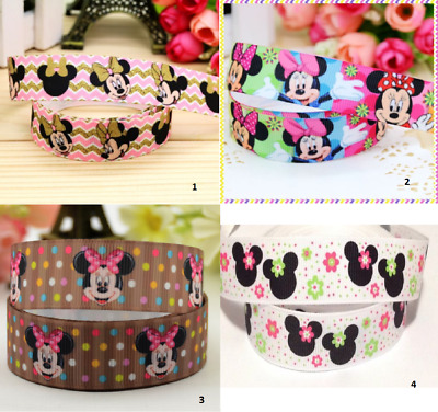 Grosgrain ribbon 1 meter - minnie mouse ribbon 22 mm