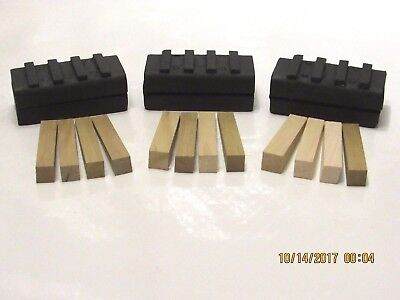 3-Pack Of 30/40 Dyma-Serts For Edco Grinding Machines With 12 Wooden Wedges Free
