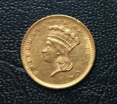 1856 US $1 One Dollar Gold Coin