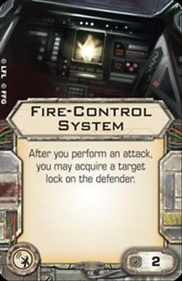 X-Wing Miniatures Fire Control System system upgrade card