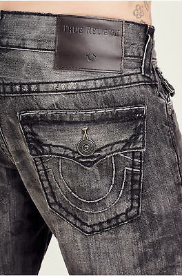 c1636c0d9 True Religion Men s Ricky Relaxed Straight Super T Jeans w  Flaps in Dark  Under