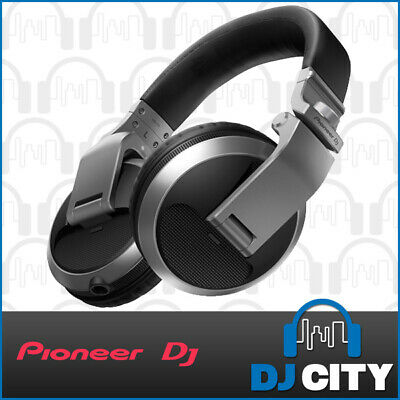 Pioneer DJ HDJ-X5 Silver Professional DJ Headphones w/ Coiled Cable & Carry Bag