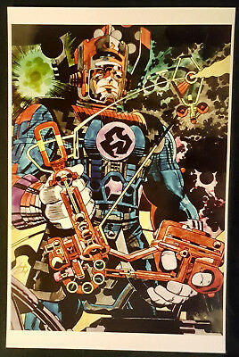 Jack Kirby, hand-colored Art Print - Galactus, splash page thor #134