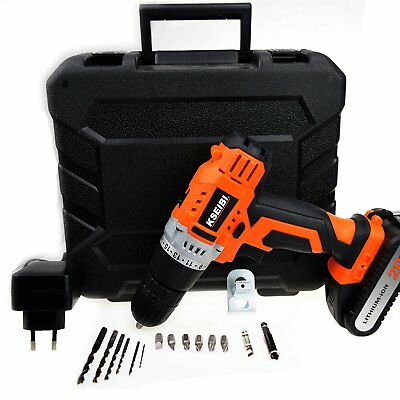 Cordless Drill Kit Driver with 20V Max Lithium-Ion Battery 2.0Ah & 265 In-lbs