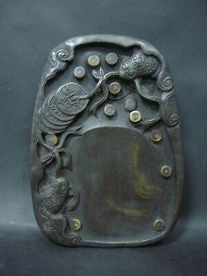 Fine Quality Rare Old Chinese Hand Carving Ink Stone Inkslab Marks