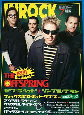 INROCK Japan Music Magazine 7/2008 Offspring Zebrahead Avril Lavigne Simple Plan