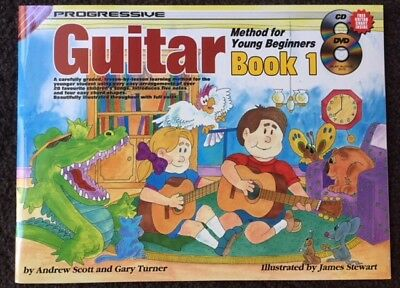 Progressive Young Beginner Guitar Book 1 CD & DVD