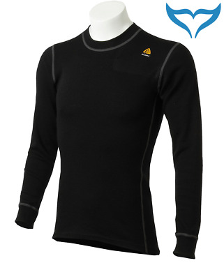 Aclima Warmwool Shirt Crew Neck S - XXXL Funktionswäsche Merino Wool 200g black