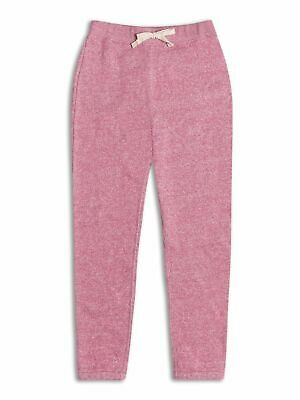 Girls Pink Marl Tracksuit Bottoms Jogging Bottoms joggers 2-8 school sports