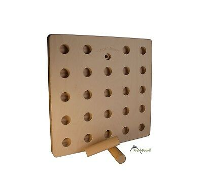 Pegboard with suspension device for KRAXLBOARD, for rock and ice climbing