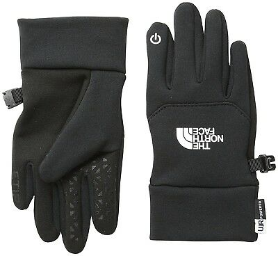 (Medium/Youth, Black/tnf Black) - The North Face Kids Etip Gloves. Free Shipping