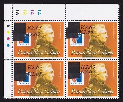 PAPUA NEW GUINEA 2001 K2.65/65t ERROR DOUBLE block MNH ** CERTIFICATE 50 EXISTED