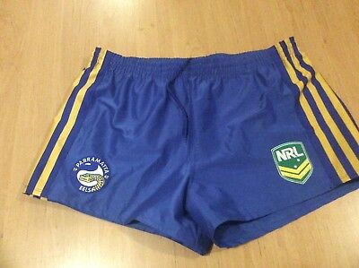 Rugby NRL parramatta eels shorts size 2xl new with out tags