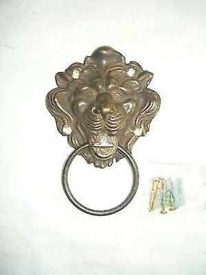 Swing for Door Brass Burnished Head Lion