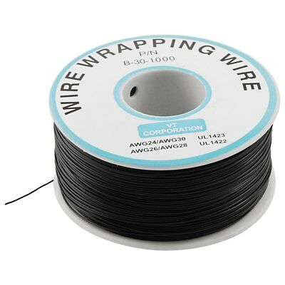 1000Ft Circuit Board JTAG Tin-Plated Copper Wire 0.25mm 30AWG Black