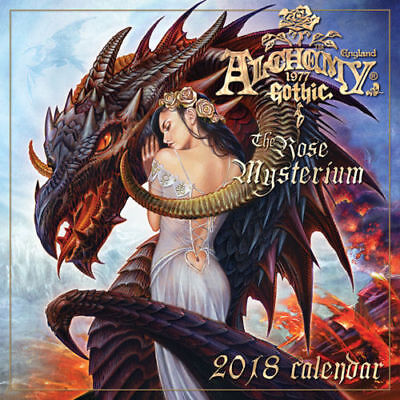 Alchemy 2018 Calendar - Gothic Fantasy Licensed Calendar - Uk Seller