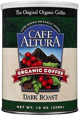 Cafe Altura Organic Ground Coffee - Dark Roast - 350ml. Free Shipping