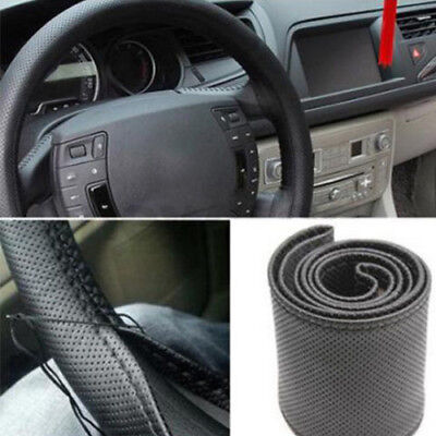Faux Leather Steering Wheel Cover For Auto Car Truck Van Suv Tan Protector Supre
