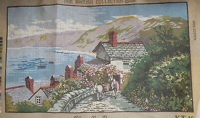 TAPESTRY NEEDLEPOINT KIT Kinetic Anchor British Collection 'Clovelly Bay' VGC