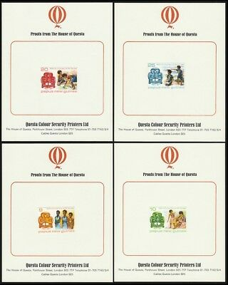 PAPUA NEW GUINEA 1977 Girl Guides 50th Anniv set IMPERF PROOFS .RARE! UNISSUED!