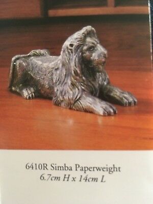 Royal Selangor Pewter Corporate Jungle Lion Paperweight